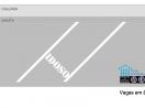 Molde/Matriz para pintura prática de sinalização horizontal