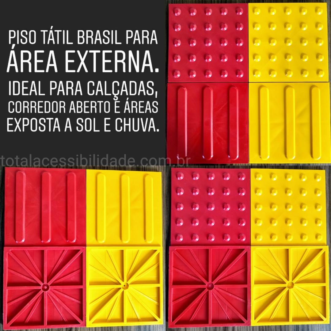 Piso Tátil Brasil Borracha Sintética Área Externa – Calçadas