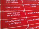 Placa Tátil Braille/Relevo Acrílico 30x9cm