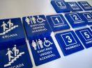 Placa Tátil Braille Diversas